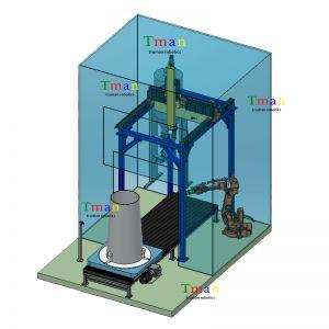 四轴桁架打磨机械手  载荷30kg 可定制