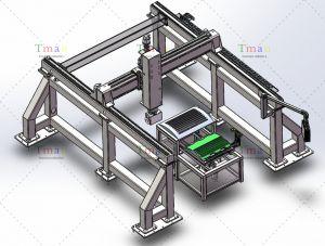 机加工机械手之五轴开槽桁架机械手